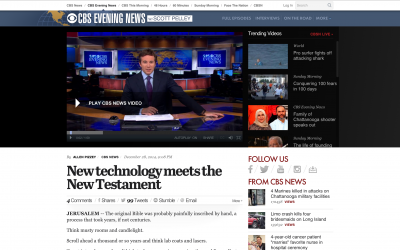 CBS Evening News: New technology meets the New Testament