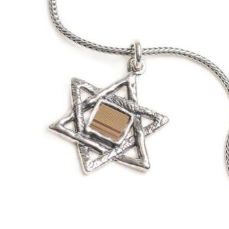 Classic Star of David Jerusalem Nano Bible Pendant Old Hebrew Bible (Tanakh)