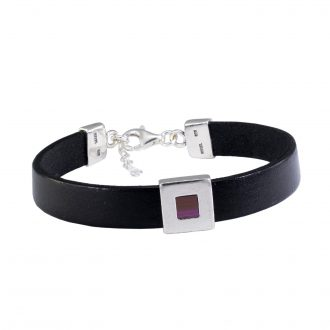 NANO BIBLE BRACELET BLACK LEATHER Old Hebrew Bible (Tanakh)