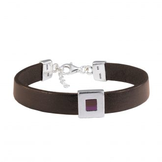 NANO BIBLE BRACELET BROWN LEATHER New Testament