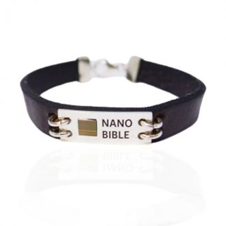 nano bible leather bracelet New Testament